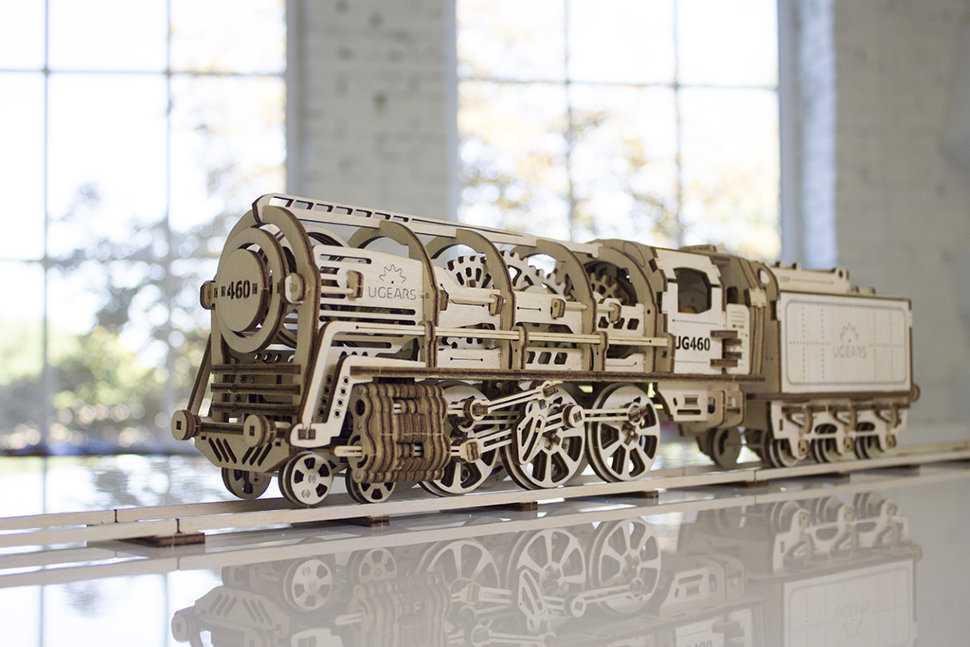 Деревянный механический конструктор: движущиеся сборные 3d-модели, механизмы с подвижными шестеренками, пазлы «часы» и «танчики»