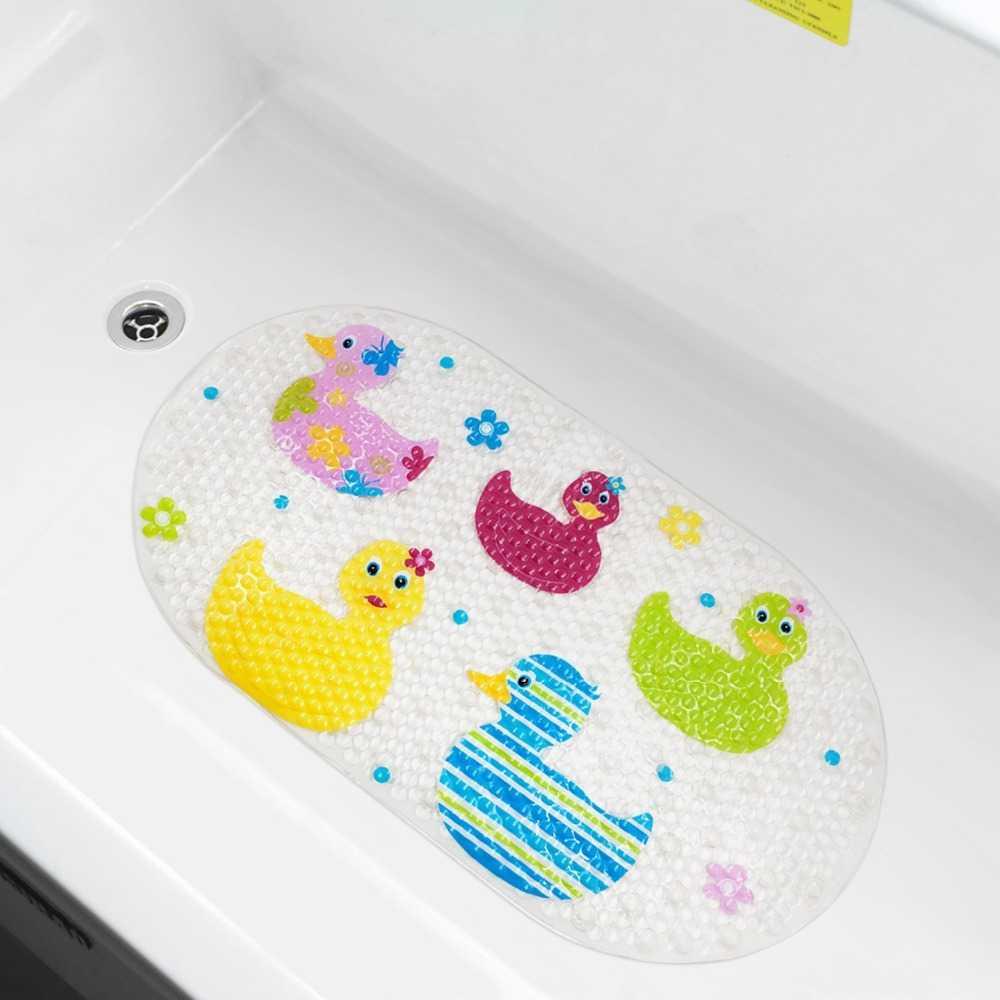 Детский коврик для ванной (55 фото): модели мини на присосках, противоскользящие