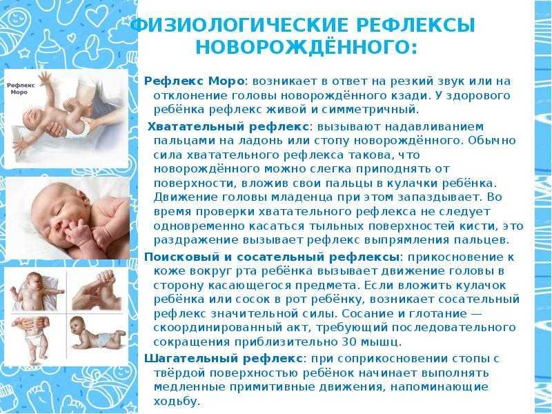 Рефлекс моро у новорожденных   уроки для мам