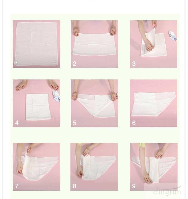 Как сделать подгузник из пеленки для новорожденных и как сложить памперс из марли
