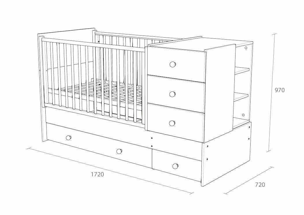 Кроватка-трансформер: современные модели, правила применения и варианты расположения (85 фото)