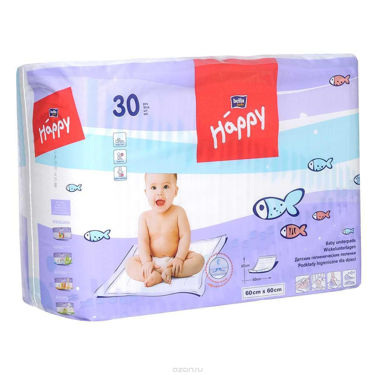 Одноразовые пеленки «каждый день»: выбираем детские впитывающие пеленки размером 60х90 и 60х40 см