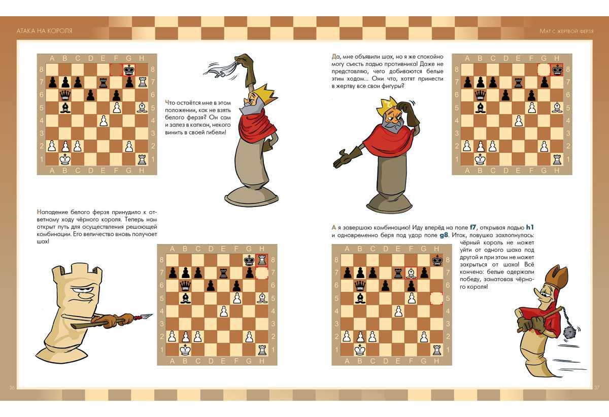 Шахматная доска и начальная расстановка фигур