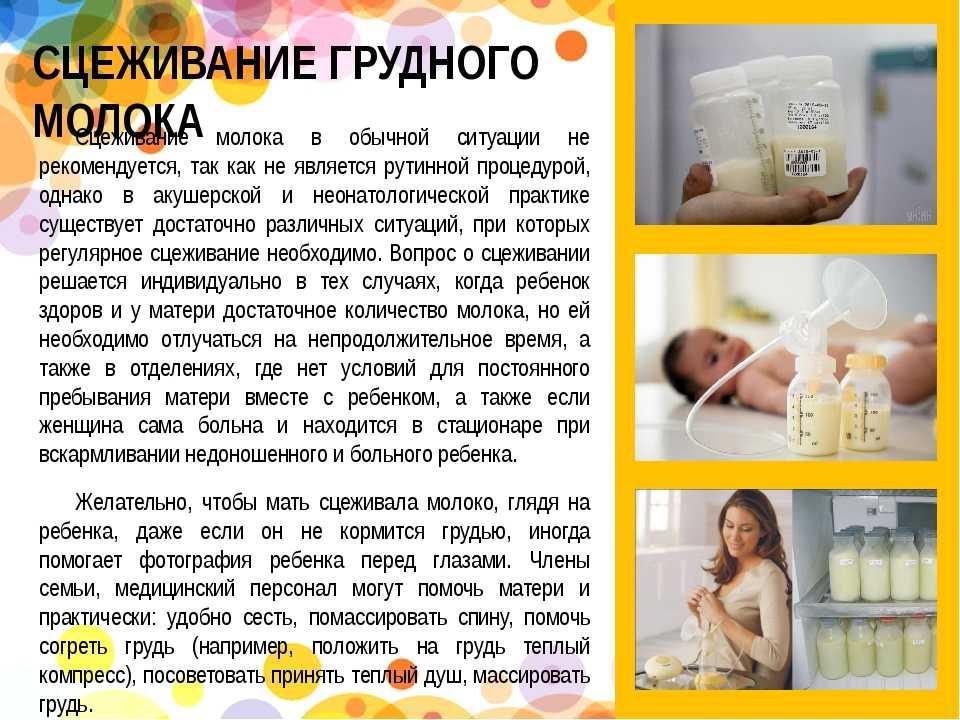 Сцеживание грудного молока по правилам