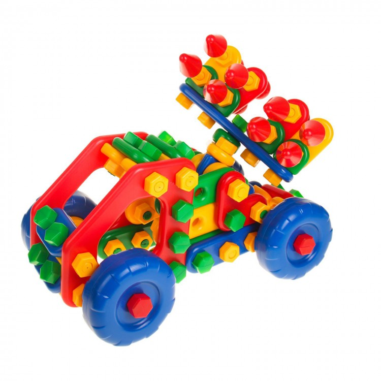 Детский пластмассовый конструктор: пластиковые модели для детей, большие кубики, модели с болтами и гайкам