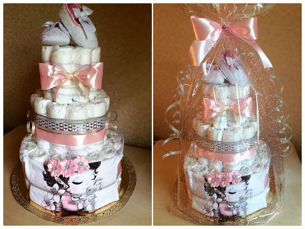 Подарок из памперсов (26 фото): как сделать и оформить оригинальный подарок из подгузников для девочки и для мальчика?