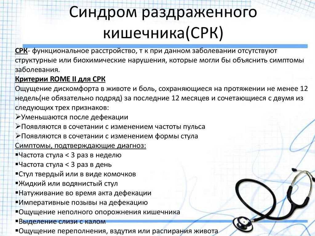Симптомы и причины синдрома раздраженного кишечника