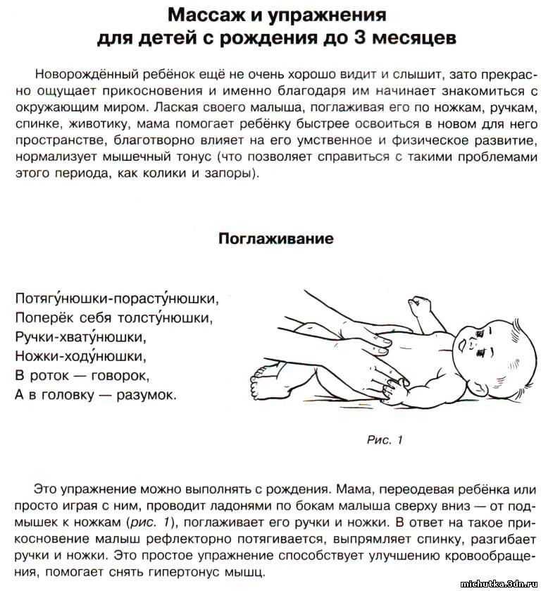 Как правильно делать массаж новорожденному от 1 до 6 месяцев в домашних условиях: советы, видео