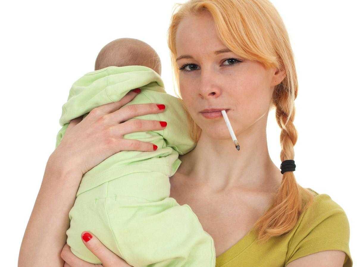 Губительный вред курения при грудном вскармливании
