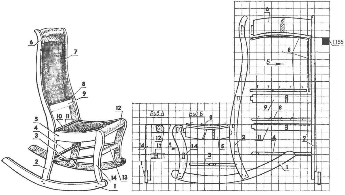 Кресло-качалка из фанеры своими руками - инструкция и чертежи