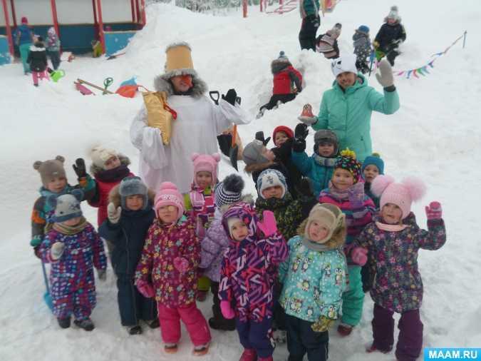 Подвижные игры с детьми в зимний период
