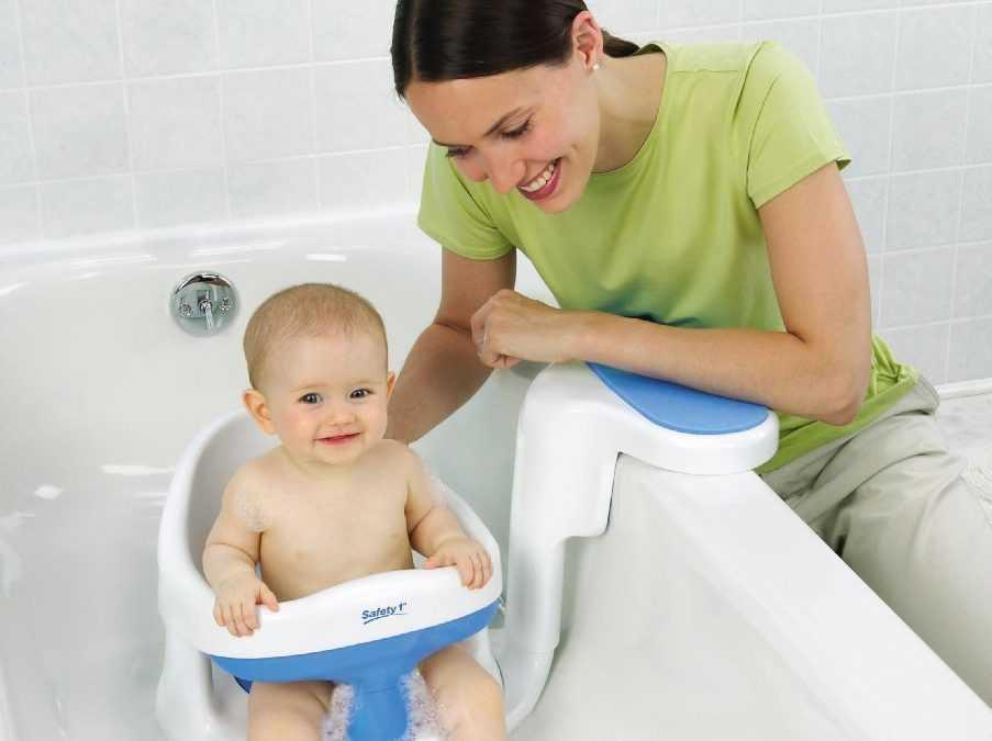 Обзор лучших стульчиков для купания ребенка в ванне