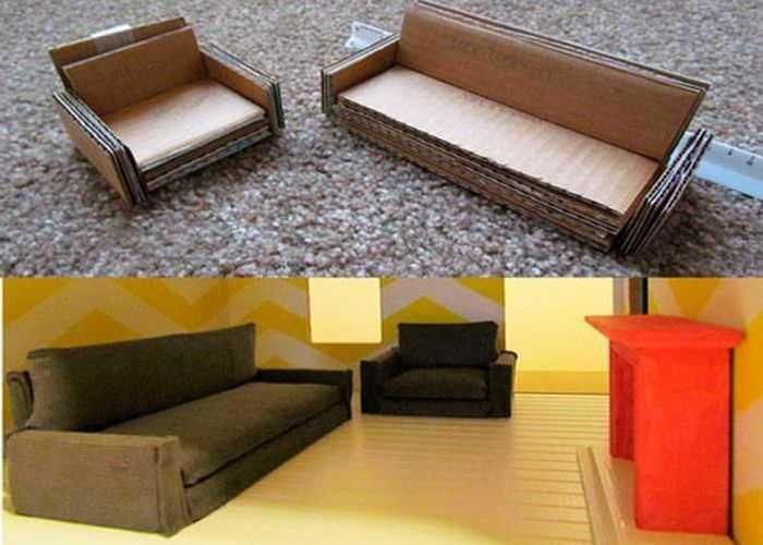 Миниатюрная мебель для кукольного домика своими руками
