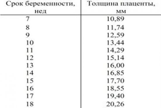 Норма толщины плаценты по неделям беременности: таблица показателей, причины и последствия отклонений - врач 24/7
